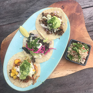 Plate of delicious tacos