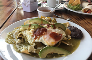 plate of chilaquiles
