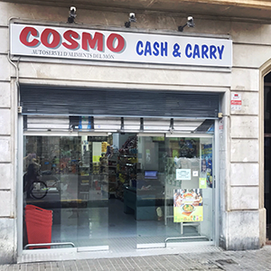 Shopfront Cosmo cash and carry