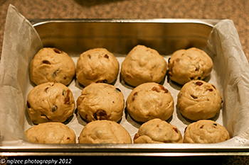 buns in the pan