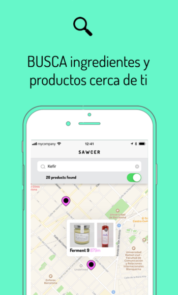 Busca ingredientes y productos cerca de ti