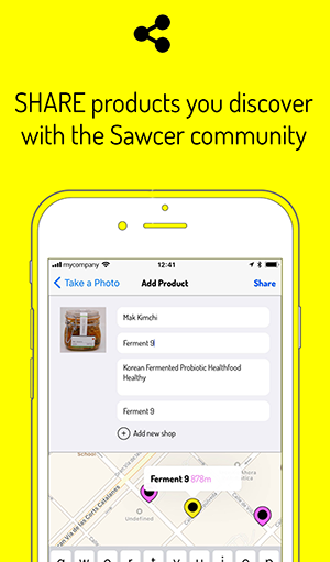 Share products with the Sawcer community