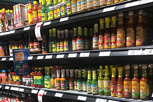 mexican sauces on the shelf