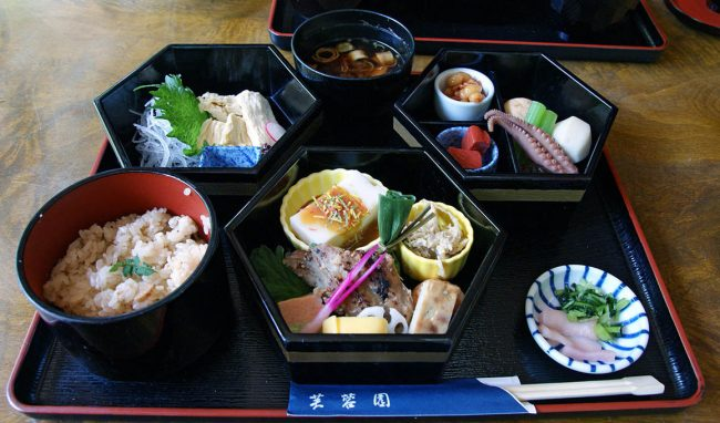 Japanese kaiseki meal